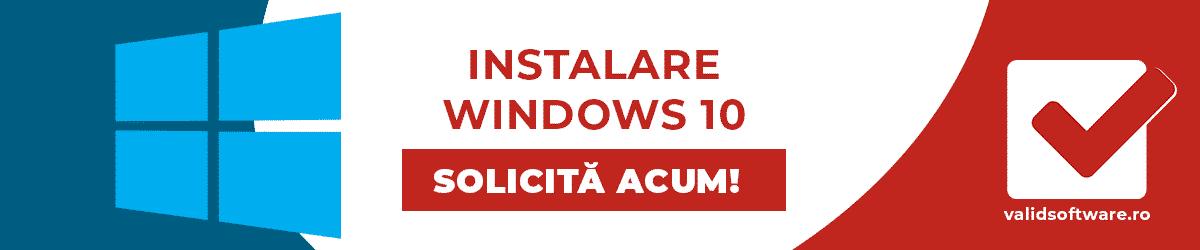 instalare win10